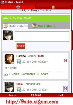 Module like facebook status v2